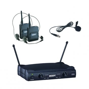 Double Micro Serre tette + Cravate VHF fréquence 178.5 - 186.5 MHZ