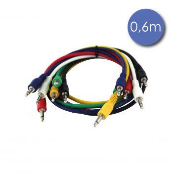 Câble 0,6m - MINI JACK MONO Mâle - MINI JACK MONO Mâle