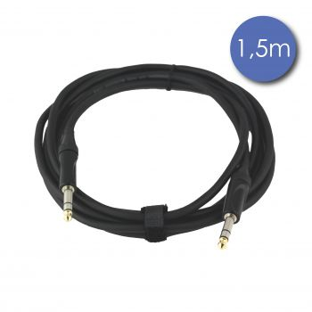 Câble 1,5m - JACK STEREO Mâle - JACK STEREO Mâle