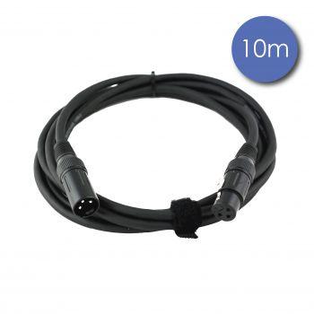 Câble 10m - XLR 3 PIN Mâle - XLR 3 PIN Femelle