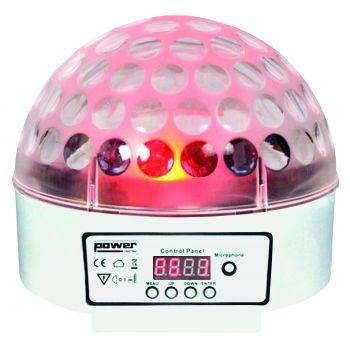 Demie sphère à led 9x3W RGBWAPPYP - finition blanche