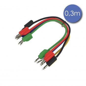 Câble Patch Mini Jack 3.5 Mono Mâle/Mâle Gigogne 0.3m